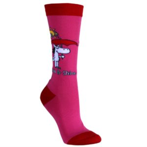 Ladies Socks - Rein or Shine, Cerise
