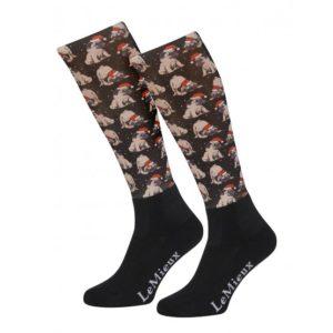 LeMieux Footsie Socks Pugs