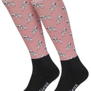 LeMieux Footsie Socks Zebra